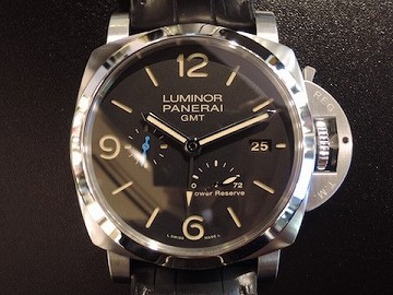 LUMINOR 1950 3 DAYS GMT POWER RESERVE AUTOMATIC ACCIAIO