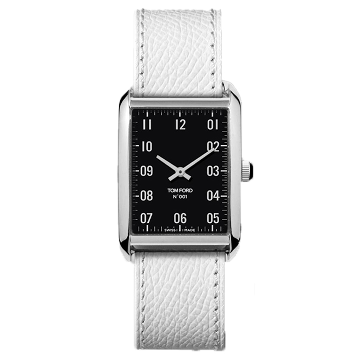 TOM FORD 001 003 PEBBLE GRAIN LEATHER STRAP