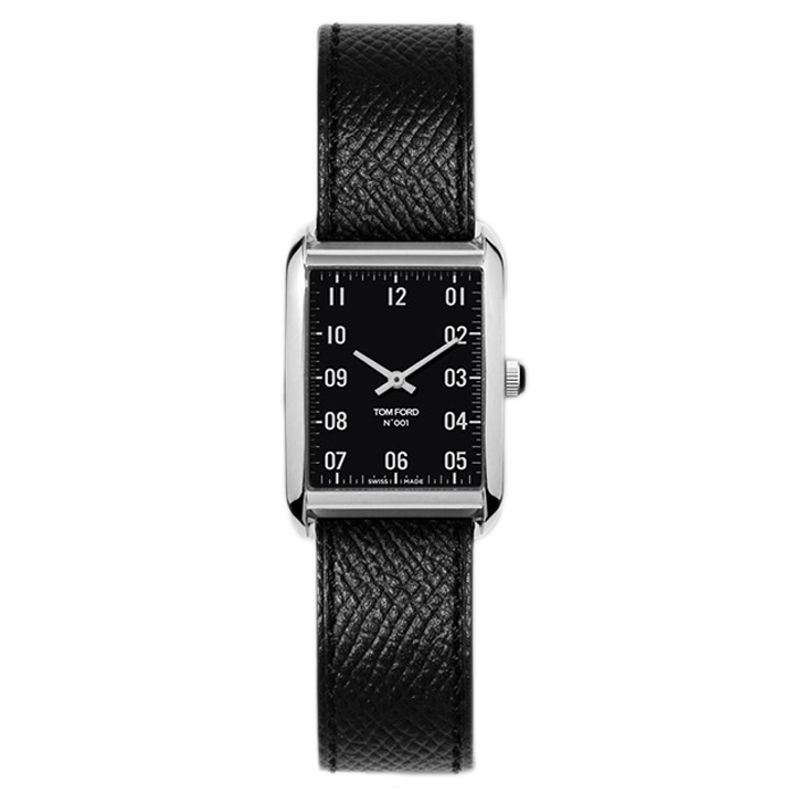 TOM FORD 001 001 PEBBLE GRAIN LEATHER STRAP