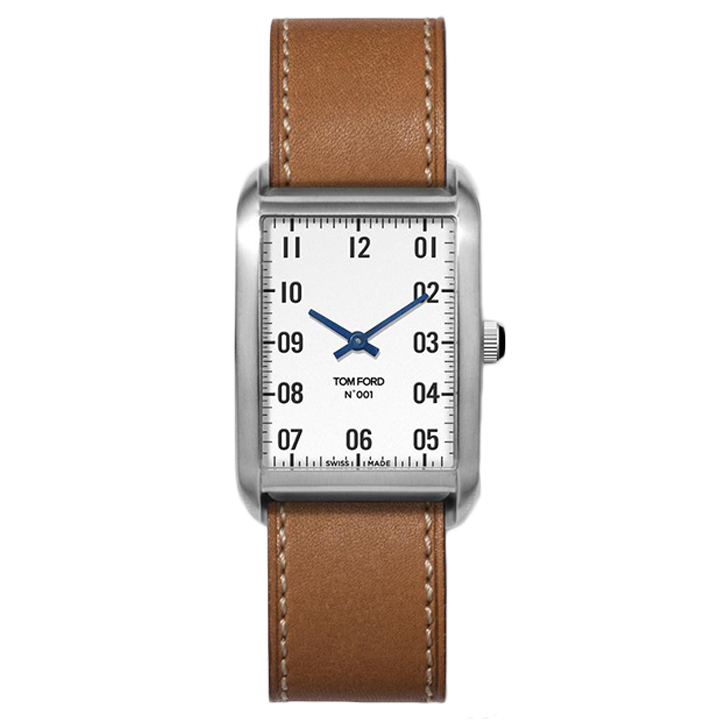 TOM FORD 001 004 STITCHED LEATHER STRAP