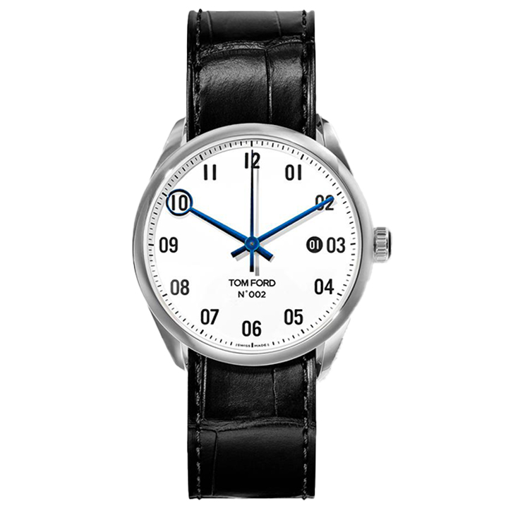 TOM FORD 002 004 STITCHED LEATHER STRAP