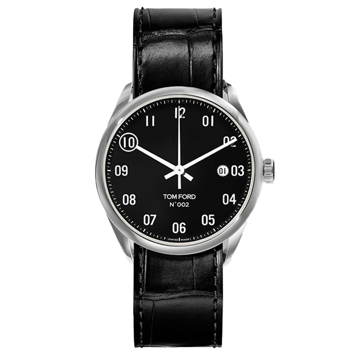 TOM FORD 002 003 STITCHED LEATHER STRAP