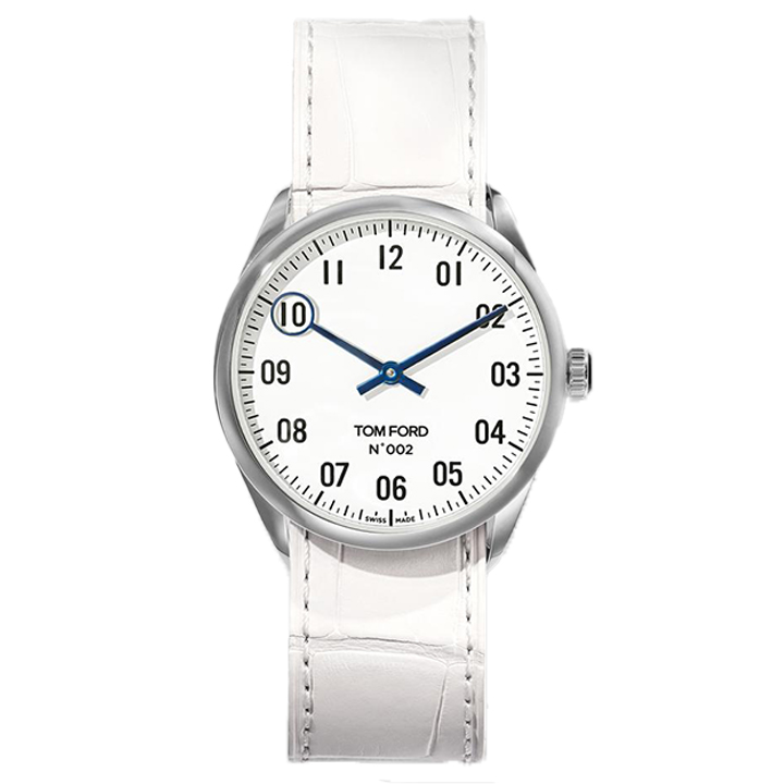 TOM FORD 002 008 STITCHED LEATHER STRAP