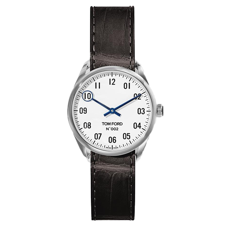 TOM FORD 002 012 STITCHED LEATHER STRAP