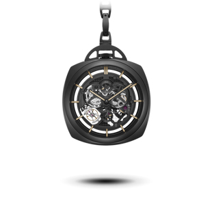 POCKET WATCH TOURBILLON GMT CERAMICA-59mm